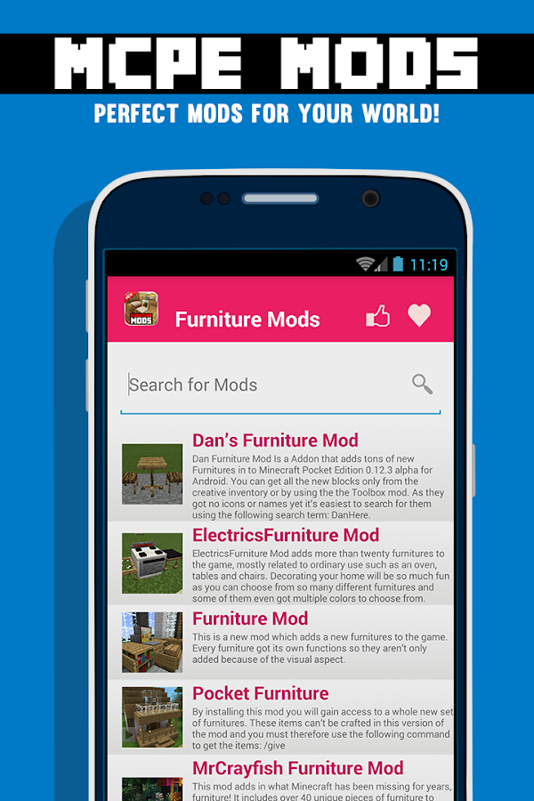 Furniture Mods For Mcpe Android Apps On Google Play