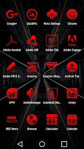Tap Red - Icon Pack screenshot 1