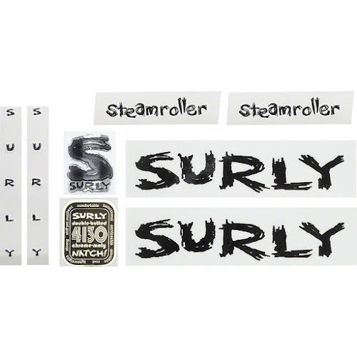 Surly Steamroller Decal Set - Black