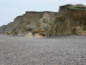 Photo: Cliffs facing the North Sea at Wyndham.