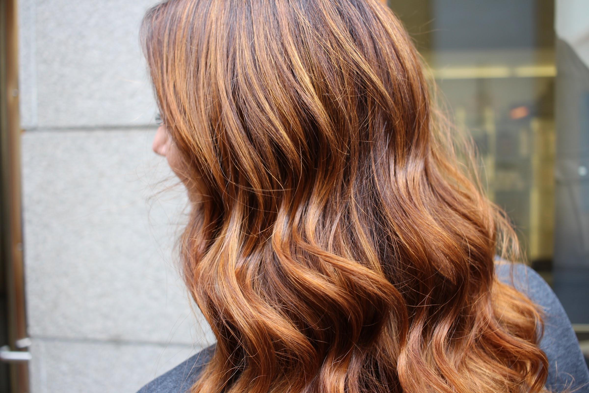 röd orange hårfärg