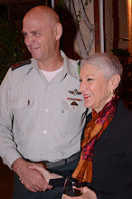 Photo: National President Marcie Natan with Major General Noam Tibon, head of IDF Northern Command