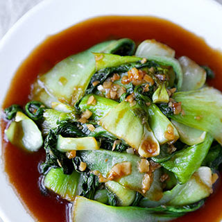 Bok Choy With Garlic and Oyster Sauce.