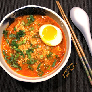 Pork-Miso Ramen Soup with Soy-Marinated Egg.