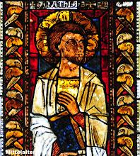 Photo: älteste und bedeutendste Glasmalereie in Norddeutschland Der Apostel Matthias.  Mittelalter