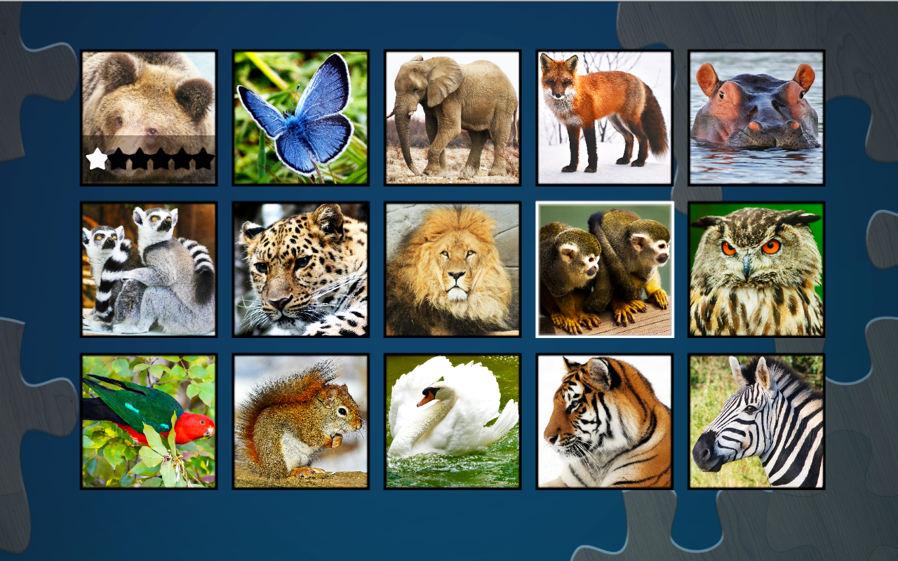 Super Jigsaws Wild Animals- screenshot