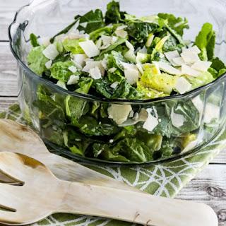 Kale and Romaine Caesar Salad.