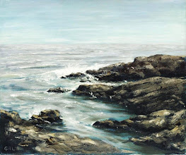 Photo: BASS ROCKS, MASSACHUSETTS - oil on linen - $1100.00