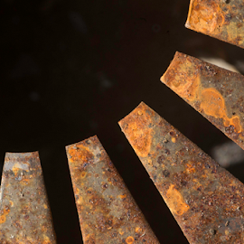 Rust flag by Annette Flottwell - Abstract Macro ( plato de presión, rust, taller, embrague, clutch cover, rouille, herrumbre,  )