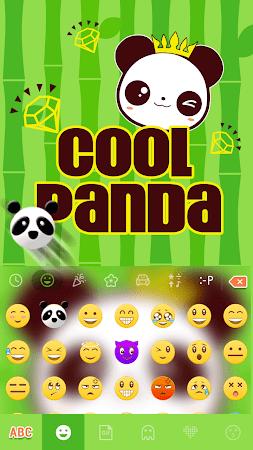 Cool Panda Kika Keyboard Theme 4.0 screenshot 1058771