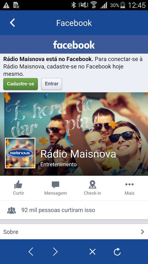 Rede Maisnova- screenshot