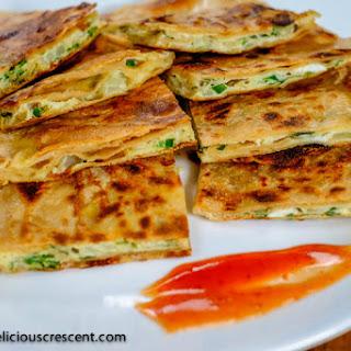 Omelette Stuffed Paratha
