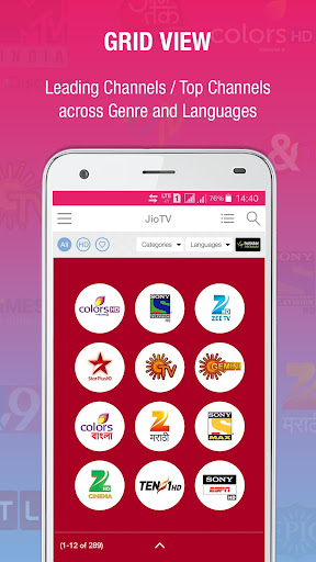 JioTV Live Sports Movies Shows Applications (apk) téléchargement gratuit pour Android/PC/Windows screenshot