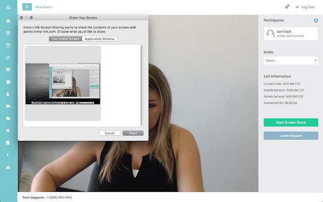 thera-LINK Screen Sharing