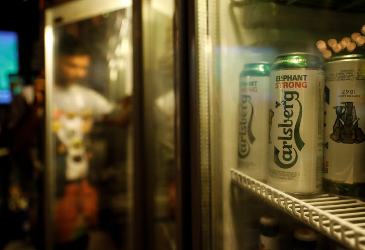 Carlsberg beer cans are seen at a pub in Mumbai, India, on October 20 2018. Picture: REUTERS/DANISH SIDDIQUI