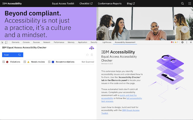 IBM Equal Access Accessibility Checker