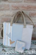 Photo: borsa cartella natural e azzurro