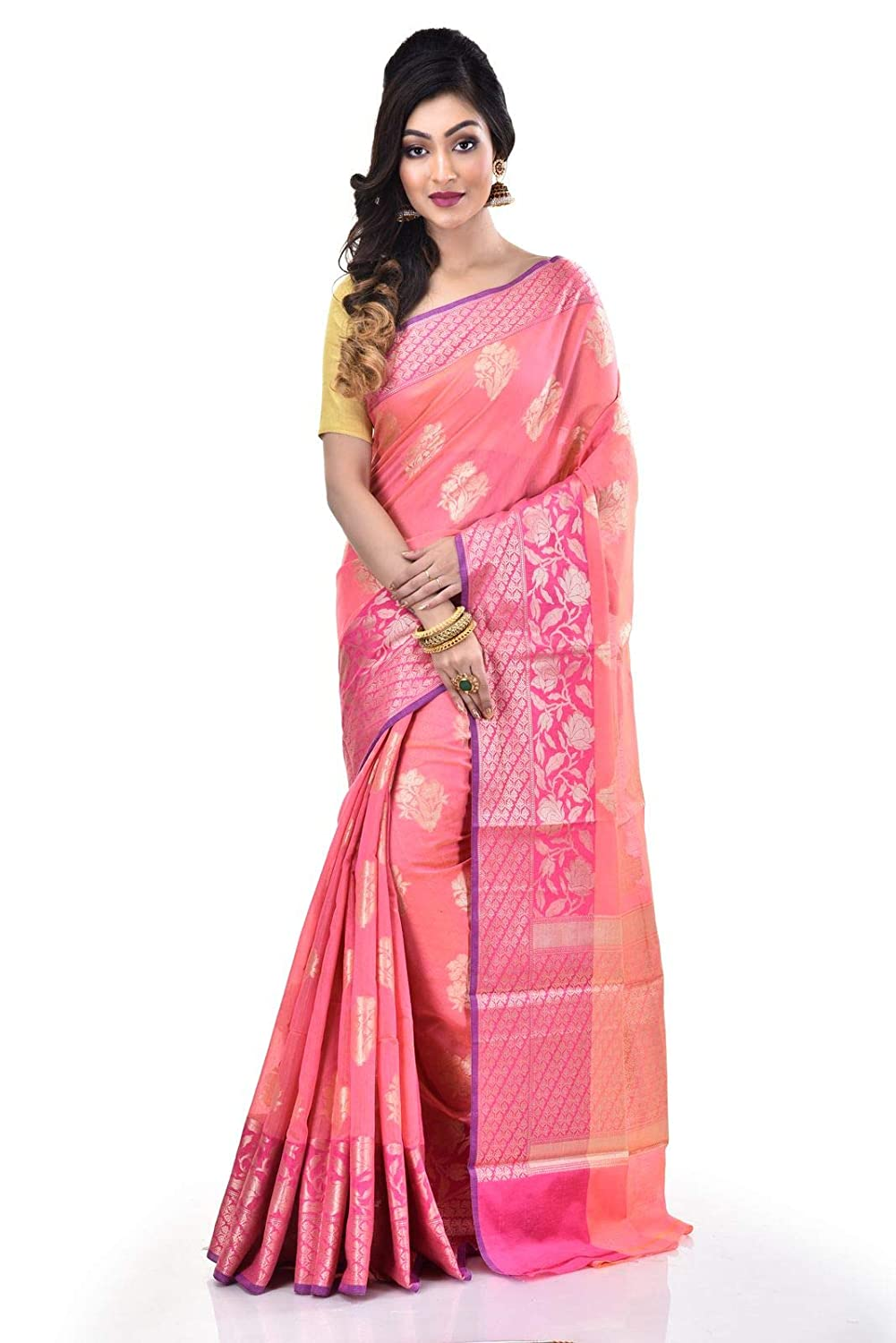 Mercerize Chanderi Banarasi Saree