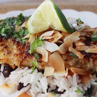 Coconut Snapper with Lime Cilantro Butter