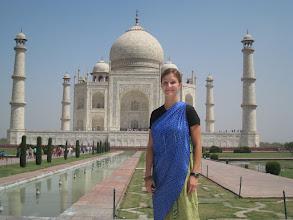Photo: A saree is proper dress for the Taj