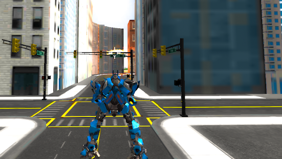 Robots Fighting In Street 2