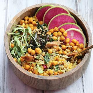 Vegan Freekeh & Turmeric Chickpea Salad