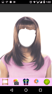 Straight Hair Style Photo Montage - náhled