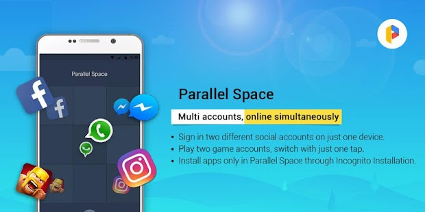 Parallel Space - Multiple accounts & Two face Screenshot