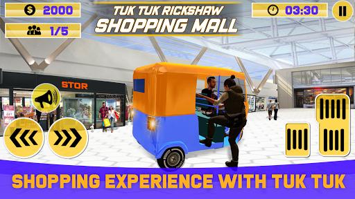 Tuk Tuk Rickshaw Shopping Mall Driver 1.0 screenshots 2