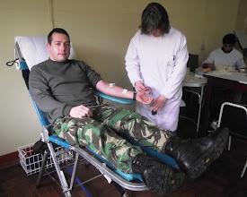 Photo: Recolha de sangue na ESE