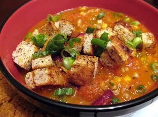 Chorizo Rice-n-bean Soup W/cornbread Croutons Recipe