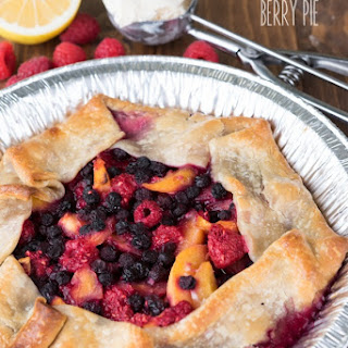 Grilled Berry Peach Pie