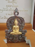 เหรียญเสมาฉลุพระพุทธโสธร รุ่นเจริญพร พิมพ์ใหญ่ เนื้อนวะหน้าทองคำ หมายเลข89 พ.ศ.2555 พิธีมหาพุทธาภิเษก ณ พระอุโบสถวัดโสธรวรารามวรวิหาร