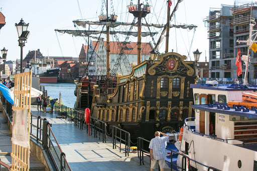 Old-Gdansk-pirate-ship-replica.jpg - Take a tour on the Black Pearl, a replica pirate ship, from the harbor in Old Gdansk, Poland.