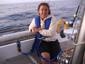 Photo: Gece seyir düzeni. Can yeleği, life tag, tekneye bağlanma. Hersey tamam.   Sailing overnight.