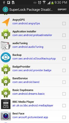Package Disabler [Samsung]  screenshots 5