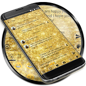 SMS Messages Glitter Gold Glass Theme