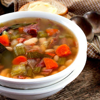 Crock Pot Ham and Bean Soup.