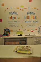 Photo: Check out time, and I really like that we can check out right in the kids section, no line up and free gift wrap if you need it.