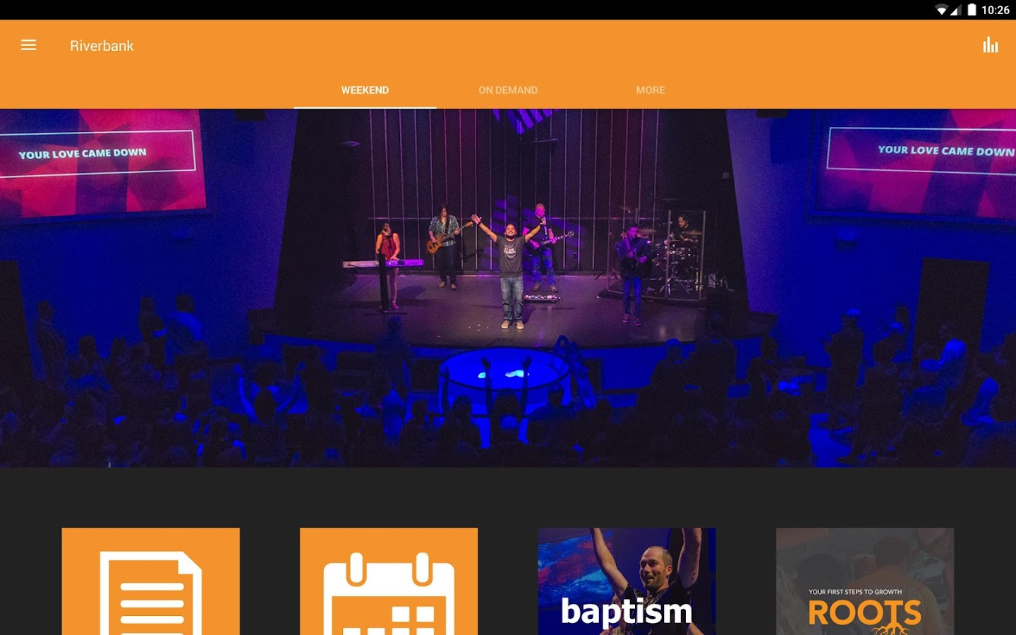 Riverbank Church App- screenshot