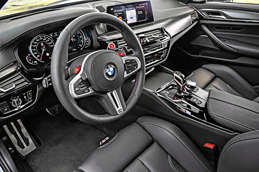 The interior is mostly stock M5. Picture: BMW