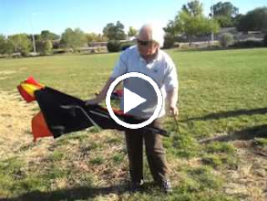 Video: An instructional video for the Falcon Delta. This kite is a wedding present for my nephew Steven (really my first cousin, twice removed) and his fiance Kelly. (Video shot with our little Canon 990 IS pocket camera in movie mode.)