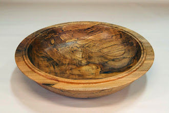 "Photo: Margaret Follas 10"" x 2 1/4"" bowl [maple]"