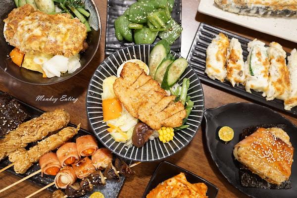 野蔬蔬食丼飯串燒炸物