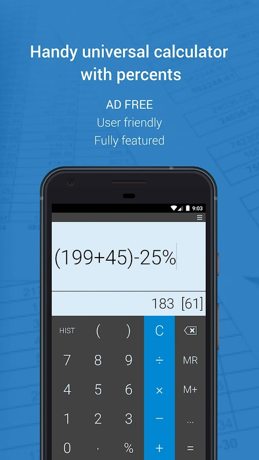 Mobi Calculator (AD free!)- screenshot