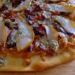 Caramelized Onion, Bacon & Pear Pizza