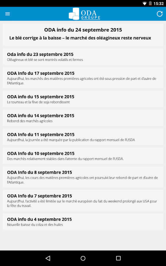 ODA Cotations- screenshot