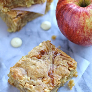 Caramel Apple and White Chocolate Chip Blondies.