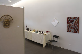 Photo: Stand von Doreen Wolff zur 3. Lokalen Kunstmesse in Naumburg
