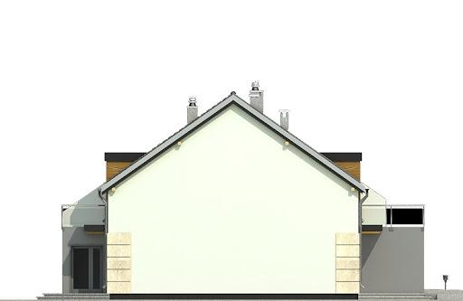Gwarek z garażem 1-st. szeregówka A-SZ - Elewacja lewa